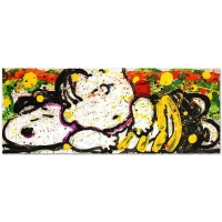 "Tom Everhart Signed ""Snooze Alarm Boogie, 7:15 AM"" Limited Edition 20x52 Hand Pulled Original Lithograph"