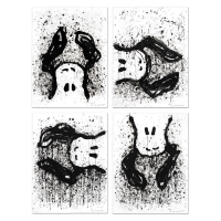 "Tom Everhart Signed ""Watchdogs 3-6-9-12 O'Clock"" Matched Suite of Four Limited Edition 22x30 Hand Pulled Original Lithographs"