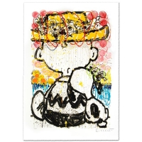 "Tom Everhart Signed ""Mon Ami"" Limited Edition 25x36 Hand Pulled Original Lithograph"