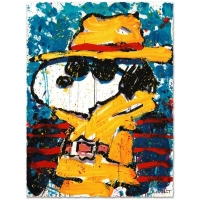 "Tom Everhart Signed ""Undercover in Beverly Hills"" Limited Edition 22x30 Hand Pulled Original Lithograph"