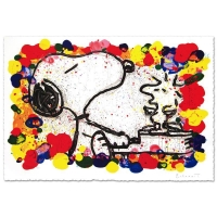 """Tom Everhart Signed """"Super Star"""" Limited Edition 27x36 Hand Pulled Original Lithograph"""