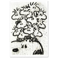 """Tom Everhart Signed """"Party Crashers"""" Limited Edition 28x42 Hand Pulled Original Lithograph"""