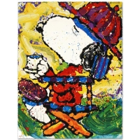 "Tom Everhart Signed ""Tea At Bel Air-3:00"" Limited Edition 22x30 Hand Pulled Original Lithograph"