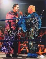 "Steve ""Sting"" Borden & Ric Flair Signed WWE 11x14 Photo (JSA COA)"