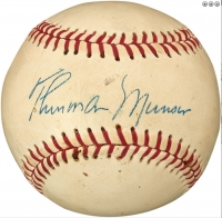 Thurman Munson Signed Little League Baseball (PSA LOA)