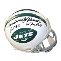 "Joe Namath Signed Jets Full-Size Throwback Helmet Inscribed ""Broadway"", ""HOF 85"" & ""16-7 Jets!!!"" (Steiner COA)"
