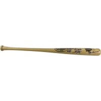 New York Yankees Multi-Signed 2000 World Series Logo Bat With Derek Jeter, Jorge Posada, Mariano Rivera, Andy Pettitte, Joe Torre (MLB)