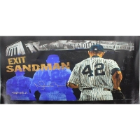"""Mariano Rivera Signed Yankees """"Exit Sandman"""" 28x46 Giclee Art Piece by Stephen Holland (Steiner COA)"""