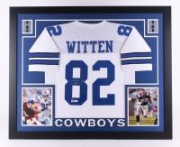 "Jason Witten Signed Cowboys 35"" x 43"" Custom Framed Jersey (JSA COA & Witten Hologram) (Imperfect)"