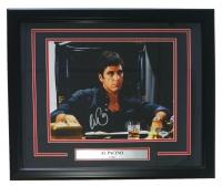 "Al Pacino Signed ""Scarface"" 18"" x 22"" Custom Framed Canvas Display (PSA COA)"