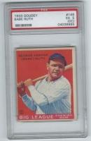1933 Goudey #149 Babe Ruth RC (PSA 5)