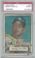 1952 Topps #311 Mickey Mantle (PSA 1)