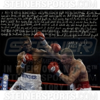 Mickey Ward Signed 16x20 Story Photo With Hand Written Story Inscription (Steiner COA)