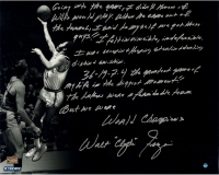 Walt Frazier Signed Knicks 16x20 Metallic Photo With Handwritten Story Inscription (Steiner COA) at PristineAuction.com