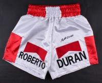 Roberto Duran Signed Boxing Shorts (JSA COA)