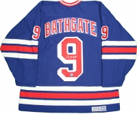 Andy Bathgate Signed Rangers Throwback Jersey (AJ Sports Hologram)