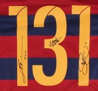 "Lionel Messi, Neymar Jr. & Luis Suarez ""Tres Amigos"" Barcelona Jersey (Icons COA) at PristineAuction.com"