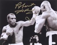 Sugar Ray Leonard Signed 11x14 Photo (JSA)