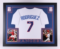 "Ivan Rodriguez Signed Rangers 35"" x 43"" Custom Framed Jersey (JSA COA) at PristineAuction.com"