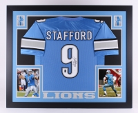"Matthew Stafford Signed Lions 35"" x 43"" Custom Framed Jersey (JSA COA & Stafford Hologram)"