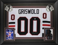 "Chevy Chase Signed Griswold Blackhawks 31.5"" x 36.5"" Custom Framed Jersey (PSA COA)"