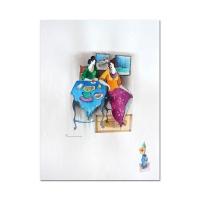 Itzchak Tarkay Signed 22x30 Original Mixed Media Watercolor