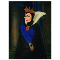 """Jim Salvati Signed """"Evil Queen"""" Limited Edition 11x14 Giclee on Canvas from Disney Fine Art"""