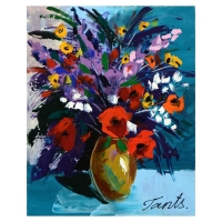 Lena Tants Signed 16x20 Original Acrylic Painting on Canvas