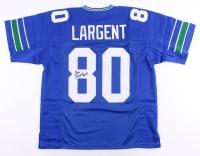 """Steve Largent Signed Seahawks Jersey Inscribed """"HOF 95"""" (JSA COA)"""