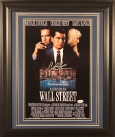 "Charlie Sheen Signed ""Wall Street"" 16"" x 23"" Custom Framed Photo Display (PSA)"