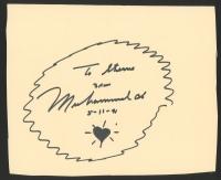 "Muhammad Ali Signed 8"" x 9.5"" Cut (JSA ALOA)"