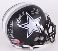 Michael Irvin, Troy Aikman, & Emmitt Smith Signed Cowboys Custom Matte Black Authentic Full-Size Helmet (PROVA Hologram, Irvin Hologram, Aikman Hologram & Smith Hologram)