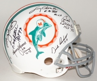 1972 Dolphins Full-Size Authentic Pro-Line Helmet Team-Signed by (6) with Bob Griese, Larry Csonka, Manny Fernandez, Mercury Morris, Dick Anderson, Larry Little (Steiner COA)