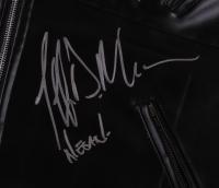 """Jeffrey Dean Morgan Signed """"Walking Dead"""" 35"""" x 43"""" Custom Framed Leather Jacket Inscribed """"Negan"""" (JSA COA) at PristineAuction.com"""