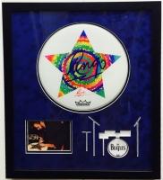 "Ringo Starr Signed 24"" x 28"" Custom Framed Drumhead Display (PSA LOA)"
