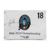 Tiger Woods Signed Limited Edition 2007 PGA Championship Pin Flag (UDA COA)