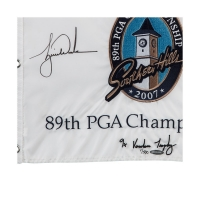 Tiger Woods Signed Limited Edition 2007 PGA Championship Pin Flag (UDA COA) at PristineAuction.com
