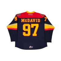 "Connor McDavid Signed Erie Otters Jersey Inscribed ""OHL R.O.Y 2013"" (UDA COA) at PristineAuction.com"