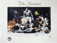 "Muhammad Ali Signed ""The Greatest"" 24"" x 18.5"" LE Looney Tunes Lithograph (JSA LOA)"
