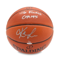 """Kevin Love Signed Limited Edition Basketball Inscribed """"'16 Finals Champs"""" (UDA COA) at PristineAuction.com"""