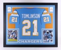 "LaDainian Tomlinson Signed Chargers 35"" x 43"" Custom Framed Jersey (JSA COA & GTSM)"