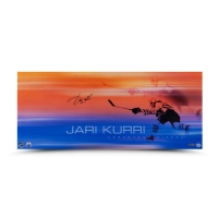 "Jari Kurri Signed Edmonton Oilers ""19 Playoff Goals"" 11x26 Photo (UDA COA) at PristineAuction.com"