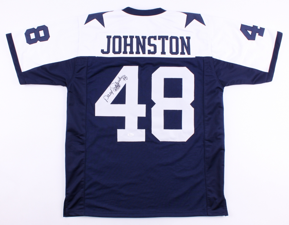 Daryl Johnston Signed Cowboys Jersey Inscribed