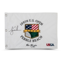 Tiger Woods Signed Limited Edition 2000 PGA U.S. Open Pin Flag (UDA COA) at PristineAuction.com