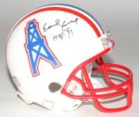 "Earl Campbell Signed Oilers Mini Helmet Inscribed ""HOF 91"" (Fiterman Sports Group Hologram)"
