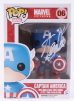 "Stan Lee Signed ""Captain America"" Marvel POP! Vinyl Figure (Radtke COA & Lee Hologram)"