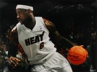 "Lebron James Signed LE #84/106 Heat ""Breaking Through"" 35 x 47 Photo (Upper Deck COA)"