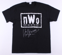 "Hulk Hogan Signed New World Order T-Shirt Inscribed ""Hollywood"" (Tristar)"
