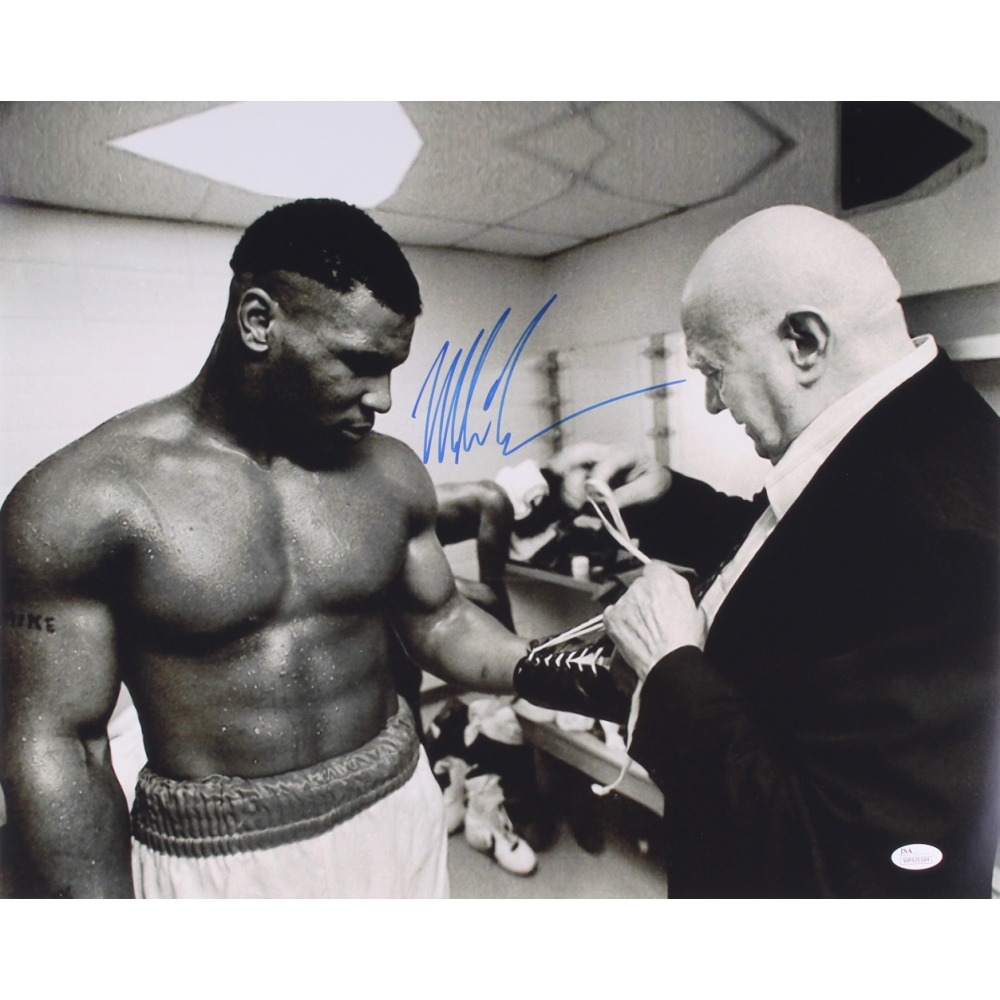 f429a91368f Mike Tyson Signed 16x20 Photo with Cus D Amato (JSA COA)