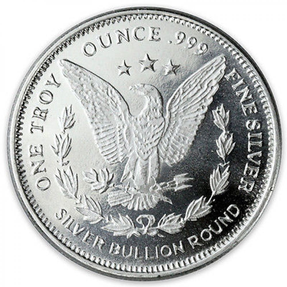 1 Oz Morgan Design Silver Round 999 Fine